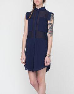Astoria Shirt Dress in Navy