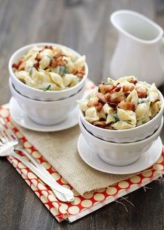 Fontina, Spinach, and Bacon Shells with Cheese.