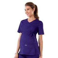 Cherokee Workwear Core Stretch Women's Maternity Knit Panel V-Neck Top