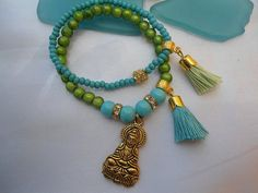 SALE BUDDHA and YOGA inspired Bracelet Chakra bracelet by Nezihe1, $15.00