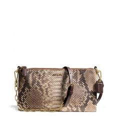 The Madison Kylie Crossbody In Python Embossed Leather from Coach