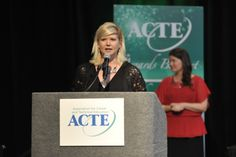 2014 ACTE Career Gudance Award winner, Jayne Greeney Schill, says a few words upon accepting her award.