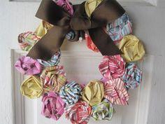 DIY Mini Rosette Spring Wreath | Shelterness