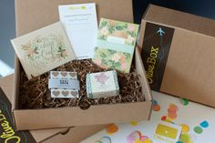 I have loved getting OliveBox so far, a monthly subscription service for paper lovers. Very cute stuff!