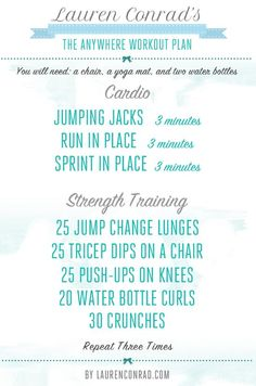 The Anywhere Fitness Plan by Lauren Conrad