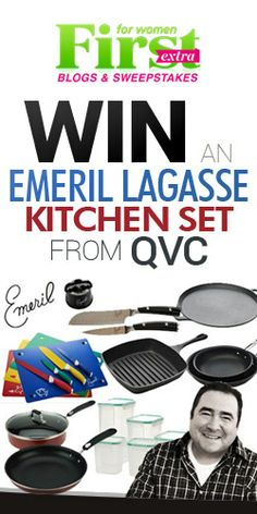 Win an Emeril Lagasse Kitchen Set from QVC