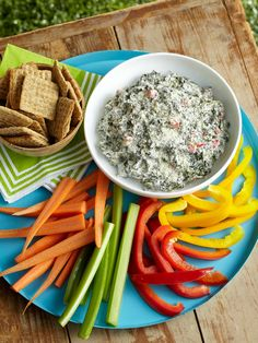 Caesar-Spinach Dip — Creamy with sour cream and Caesar dressing, this cheesy spinach dip is sure to be a hit at your next party!