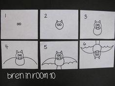Bat Directed Drawing Tutorial www.breninroom10.com
