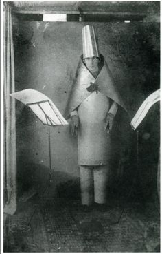 Hugo Ball (1886-1927), German Author, Poet and one of the Leading Dada Artists.