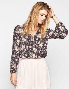 LIVING DOLL Floral Print Womens Surplus Top #Tillys #LivingDoll #floral #blouse