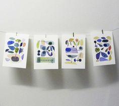 Fruit Set of 4 prints from original watercolor by LouiseArtStudio, $42.00 print origin, art prints, wall prints