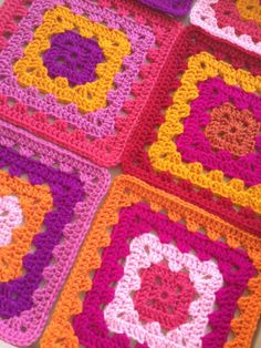granny squares - love these colors!