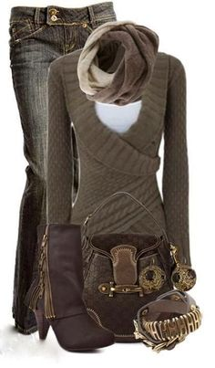 Warm Winter Outfit---wish I could find this sweater!!