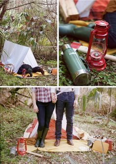 camping engagement session.