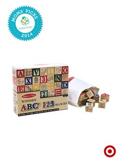A BabyCenter Top Pick, the Melissa & Doug Deluxe Wooden Block Set makes learning letters and numbers fun.