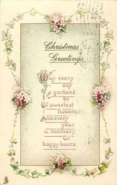 CHRISTMAS verses & flowers