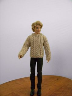 Red cardigan for Barbie by angharadgruffyd on Etsy