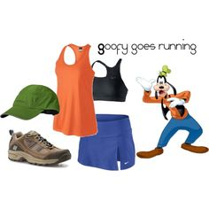 Goofy inspired running outfit for disney half marathon!