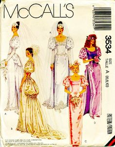 1980's Retro Bridal Sewing Pattern McCALL'S by ShellMakeYouFlip, $13.50