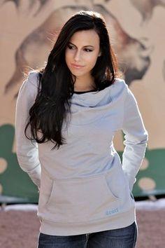 Cruel Girl Sweatshirt Womens L/S Hoodie Cowl Neck S Gray CWK9832001