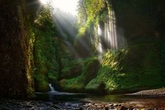 Photo Weeping Walls Eagle Creek II by Greg Stokesbury on 500px