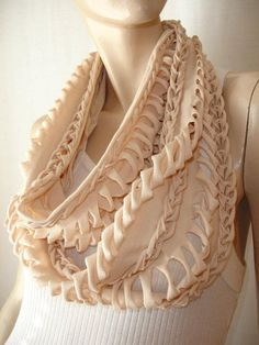 I want to learn how to make a tshirt scarf...there's plenty of shirts I could sacrifice.  I'm about to walk into my closet with scissors waving.