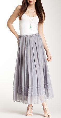 Grey pleated skirt / YASB