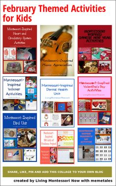 February Themed Activities for Kids - LOTS of ideas for calendar-based activities and unit studies for home or classroom