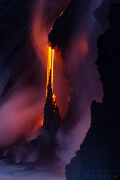 Fire and Water  Big Island of Hawaii lava flow.