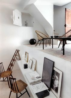 Modern rustic office space