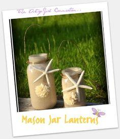 backyard beach, summer diycraft, lantern diy, jar lantern, craft idea, diy lantern, diy home, diy decor, mason jars