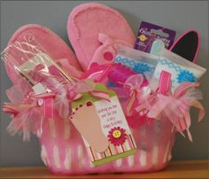 The Pedicure Basket gift baskets, nail polish, pedicur, spa party, valentine gifts, gift idea, parti, baby showers, christmas gifts