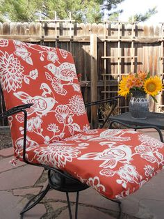 Sewing New Patio Cushions
