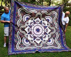 Glacier Star, Quiltworx.com, Made by Shirley Van Vlierden Robbins.