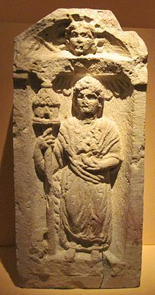 In Gaulish religion, Nantosuelta was a goddess of nature, the earth, fire, and fertility. The Mediomatrici (Alsace, Lorraine) depicted her in art as holding a model house or dovecote on a pole. Other likely depictions show her with a pot or bee hive. Nantosuelta is attested by statues, and by inscriptions.