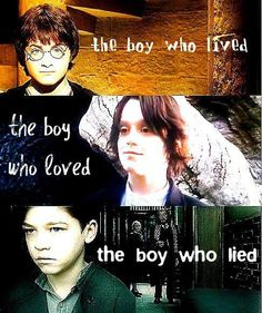 young Harry Potter, Severus Snape and Tom Riddle (Lord Voldemort)