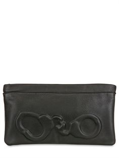 VLIEGER - EMBOSSED LEATHER CLUTCH