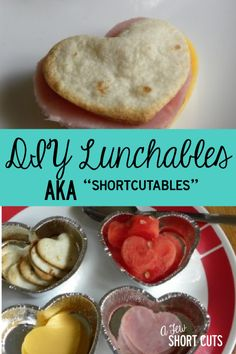 """Save your money and make these DIY Lunchables """"AKA ShortCutables"""". Personalize them too! #lunch #school"""