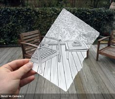 Born in Abidjan, Ivory Coast and now living in Belgium, Ben Heine is an amazing artist who overlaps hand-drawn works of art with photos to create stunning images. I selected eleven of his Pencil Vs. Camera images from his Web site, but you should check out all his awesome work if you have time.