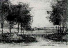 Vincent van Gogh gogh sketchesdraw, charcoal, landscap, vans, van gough, vincent van gogh, black, art pieces, ink