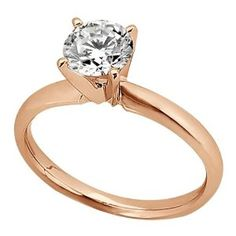 Four-Prong     14K    Rose Gold Engagement Rings    $305.00