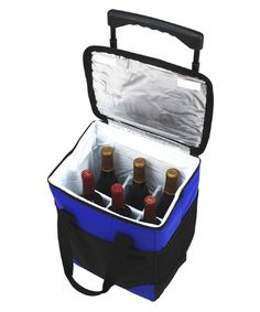Picnic at Ascot 32 Can Rolling Cooler with Wine Bottle Divider - Coolers at Hayneedle