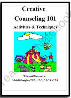 Creative Counseling 101 eBook from Creative Counseling Ideas on TeachersNotebook.com -  (159 pages)  - Learn how to be a more Creative Counselor or Therapist with the Book that started it all!  Learn step by step therapy with over fifty-five counseling and therapy techniques and activities.