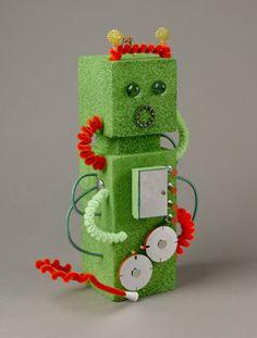 Fun Green Robot Craft