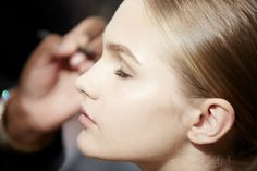 Backstage at the Gucci Women's Spring/Summer 2015 Runway Show