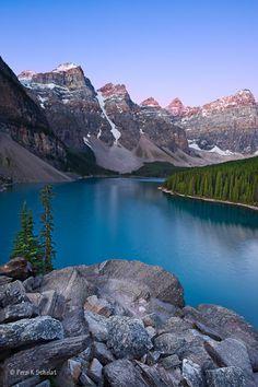Dawn on the Moraine,Lake Moraine, Banff National Park, Alberta, Canada