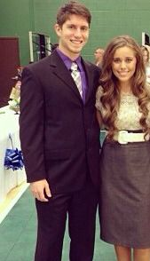 Ben Seewald and Jessa Duggar at the wedding.