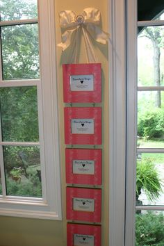 5 pink hanging picture frames with bow and by DianeMartinDesigns, $160.00