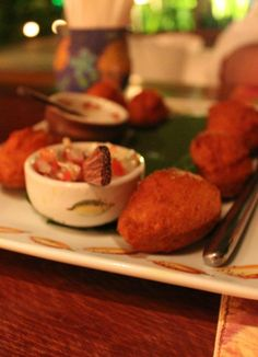 Mini acarajés - typical brazilian food from Bahia, a northeastern state.