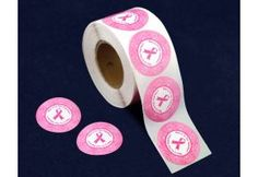 "We're In This Together Pink Ribbon Stickers. These pink ribbon stickers are 1 1/2 inch round stickers. They have a pink ribbon in the middle with the words ""We're In This Together"" forming a circle around the ribbon and a delicate pink ribbon design along the outside. Great for putting on letters and envelopes. Packaged 500 stickers on a roll. (WITT-1)"